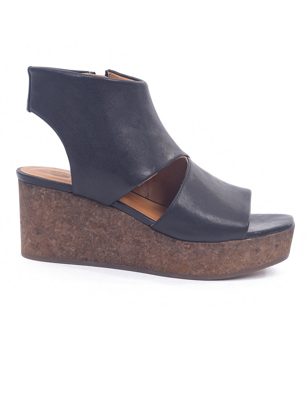 Coclico Marcy Cork Wedge, Napa Black