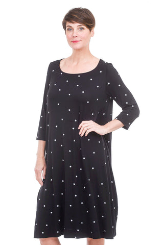 Alembika Bika Dodina Dot Dress, Black