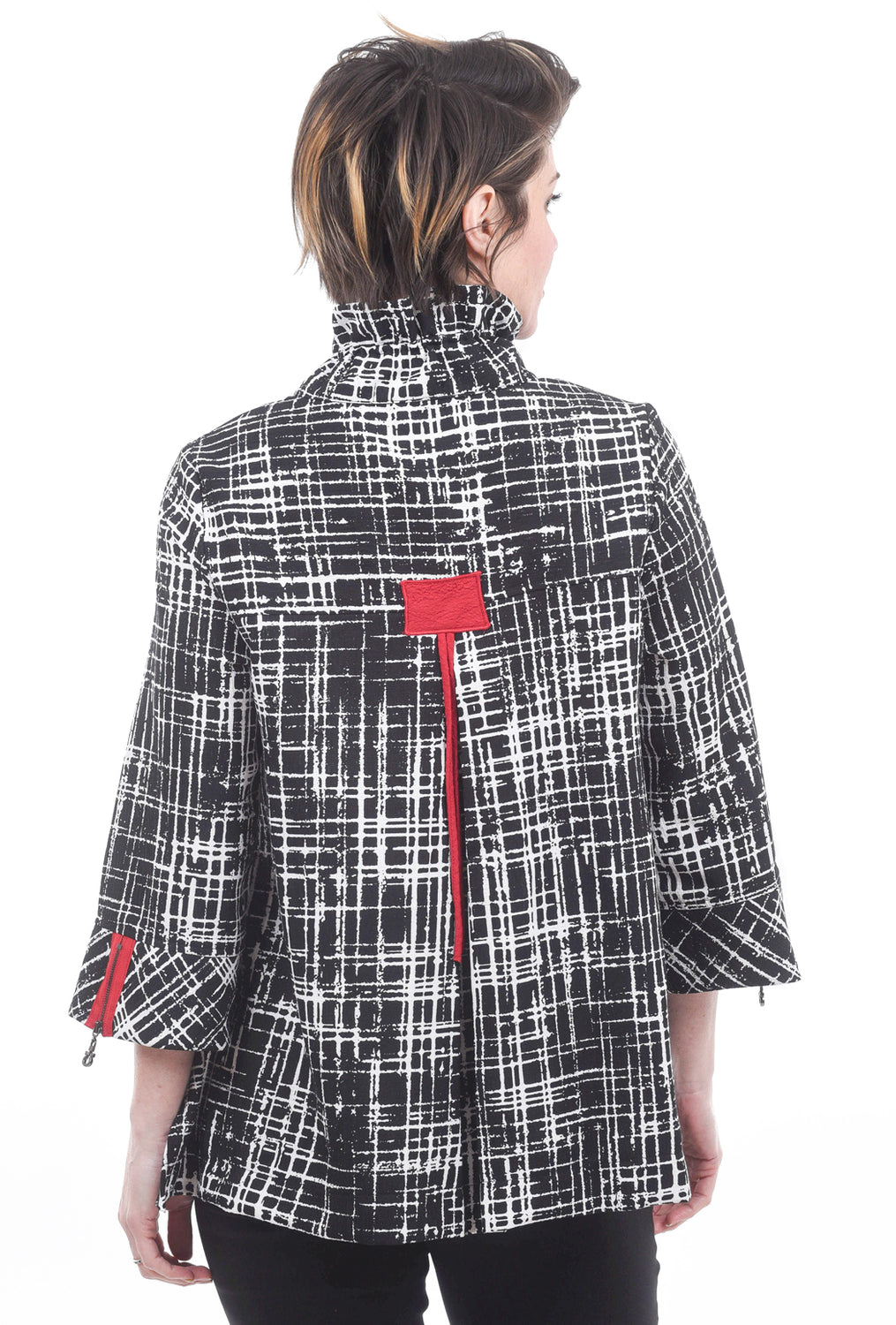 Moonlight Scarlet Touches Jacket, Black/White