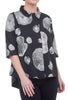 Snapdragon & Twig Alice Shirt, Black Urchin