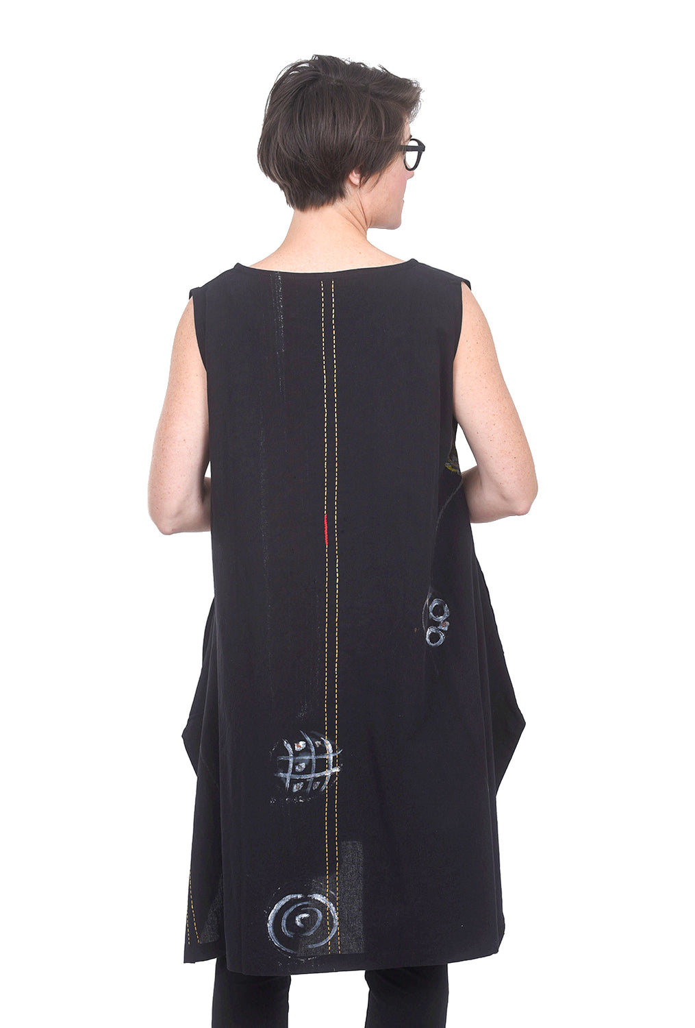 Mona Lisa Triangle Marble Tunic, Black One Size Black