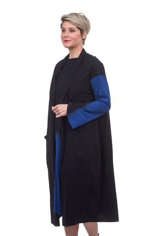 Moyuru Contrast Sleeve Topper, Black/Blue