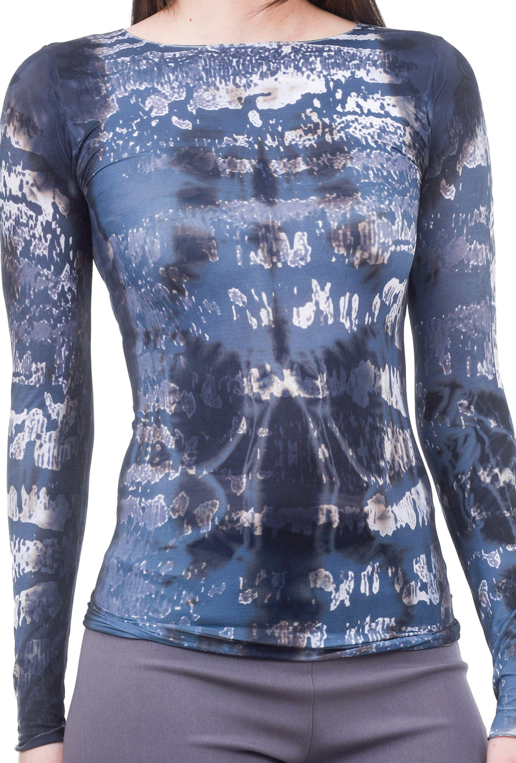 AMB Designs Primitive Raw Edge Top, Charcoal One Size Charcoal