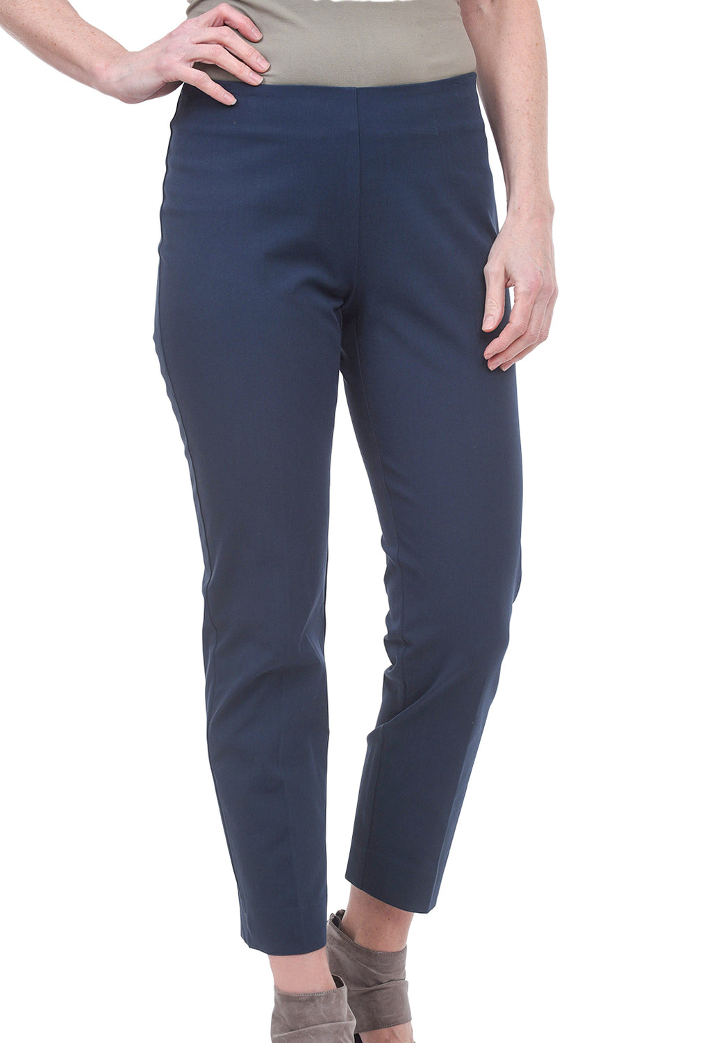 Estelle & Finn Side Zip Ankle Pants, Steel Blue