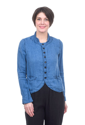 CP Shades Linen Denim Dree Jacket, Blue