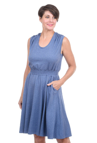 Sarah Liller Colette Dress, Chambray Blue