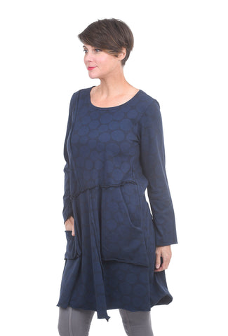 Cynthia Ashby Dot Soren Dress, Navy