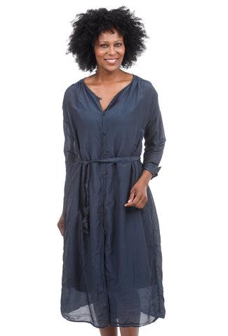 CP Shades Alexis Silk-Cotton Dress, Ink Blue
