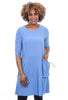 Sun Kim Tammy Short Dress, Periwinkle