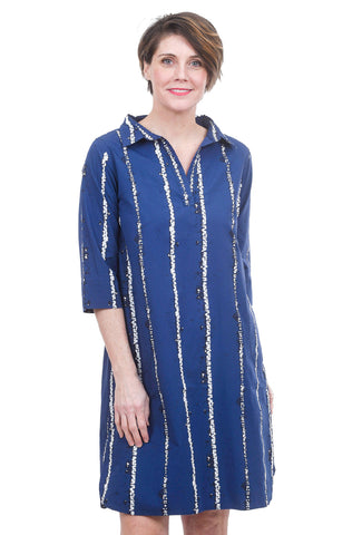 Snapdragon & Twig Ingrid Shirt Dress, Indigo