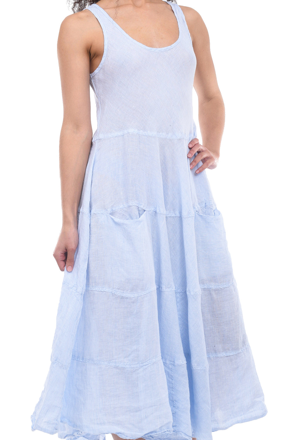 CP Shades Raffi Dress, Light Blue Pin
