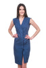 Prairie Underground Double Agent Dress, Marine Blue