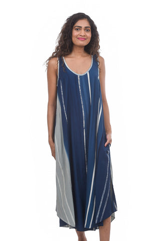 Iguana Swing Tank Dress, Teal/Aqua