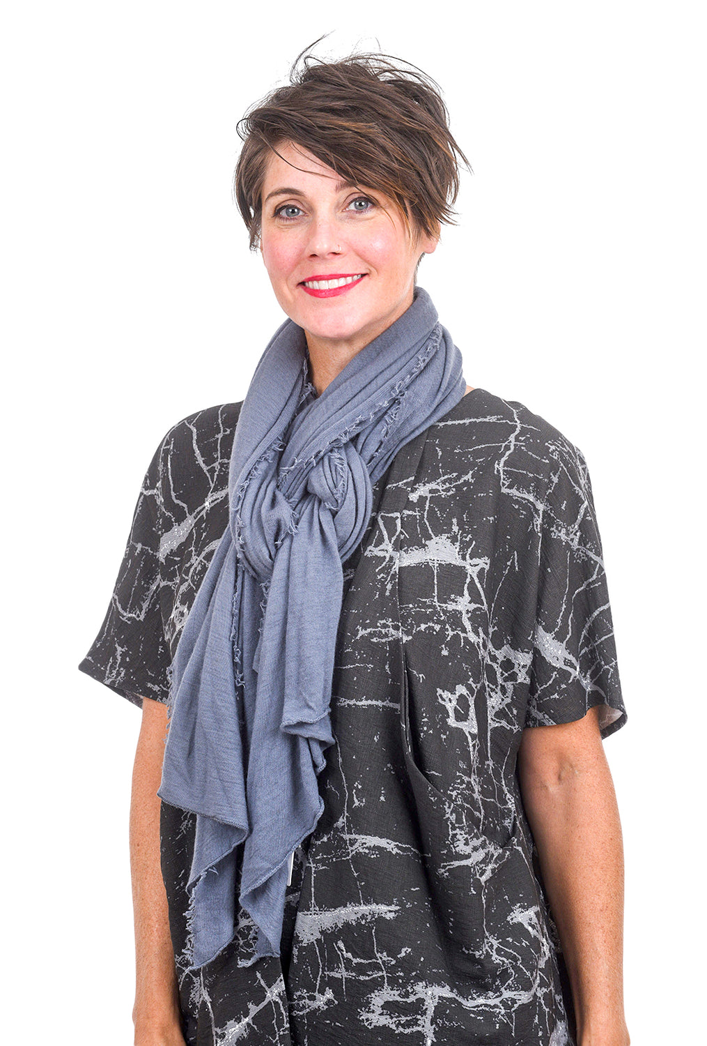 Grisal Cashmere Love Scarf, Blue Stone One Size Blue