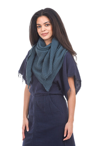 It Is Well ISW Gauze Scarf, Spruce Green One Size Green