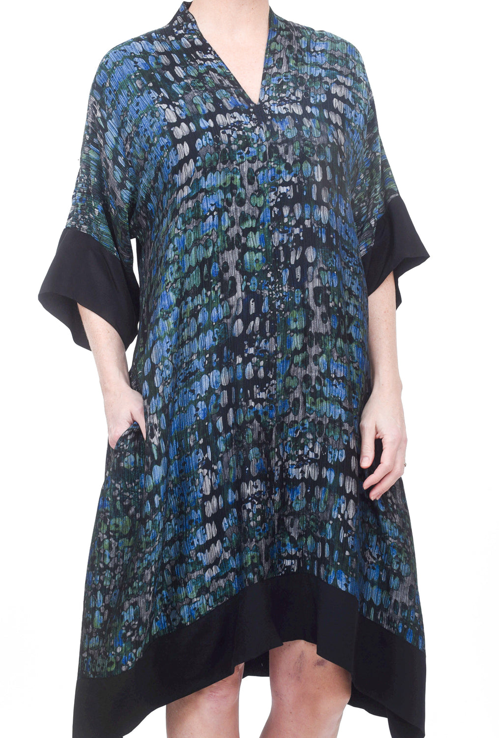 Dressori Plunge Moon Dress, Teal