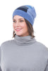 Sardine Clothing Company Recycled Cashmere Hat, Ocean Blues One Size Blue