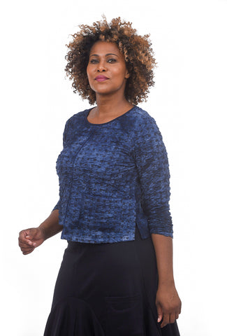 Liv by Habitat Shibori Knit Lilly Top, Indigo