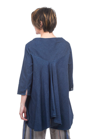 Baci Denim Smock Top, Blue