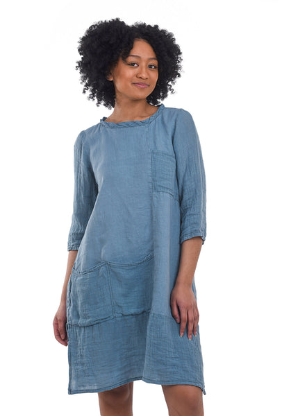 Boheme Fuzzy Sweater Dress, Petrol Blue