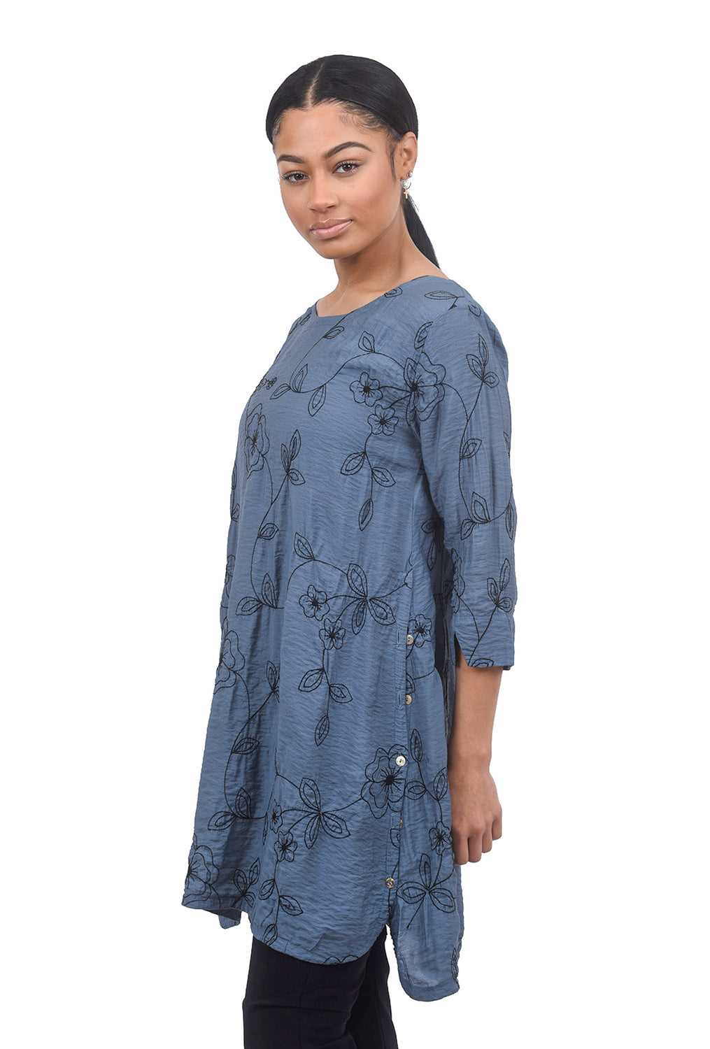 Cut Loose Embroidered Parachute Tunic, Blueprint