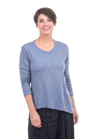 Wilt Shrunken Twist Slant Crew, Misty Blue