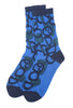 Ji-U Ji-U Scroll Socks, Blue One Size Blue