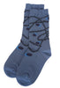 Ji-U Grapevine Detail Socks, Blue One Size Blue