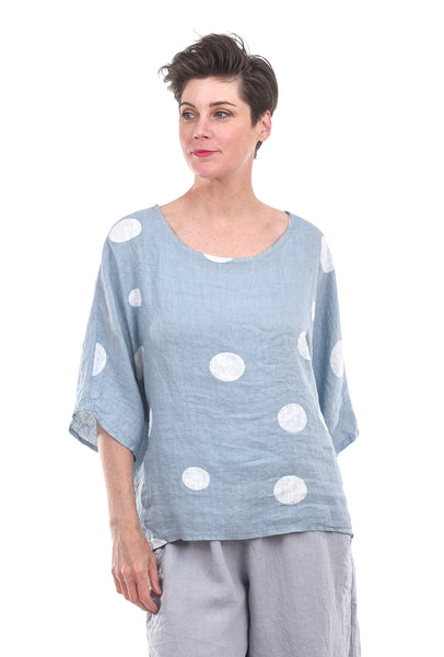 Cut Loose Pucker Dot Pullover, Tahoe