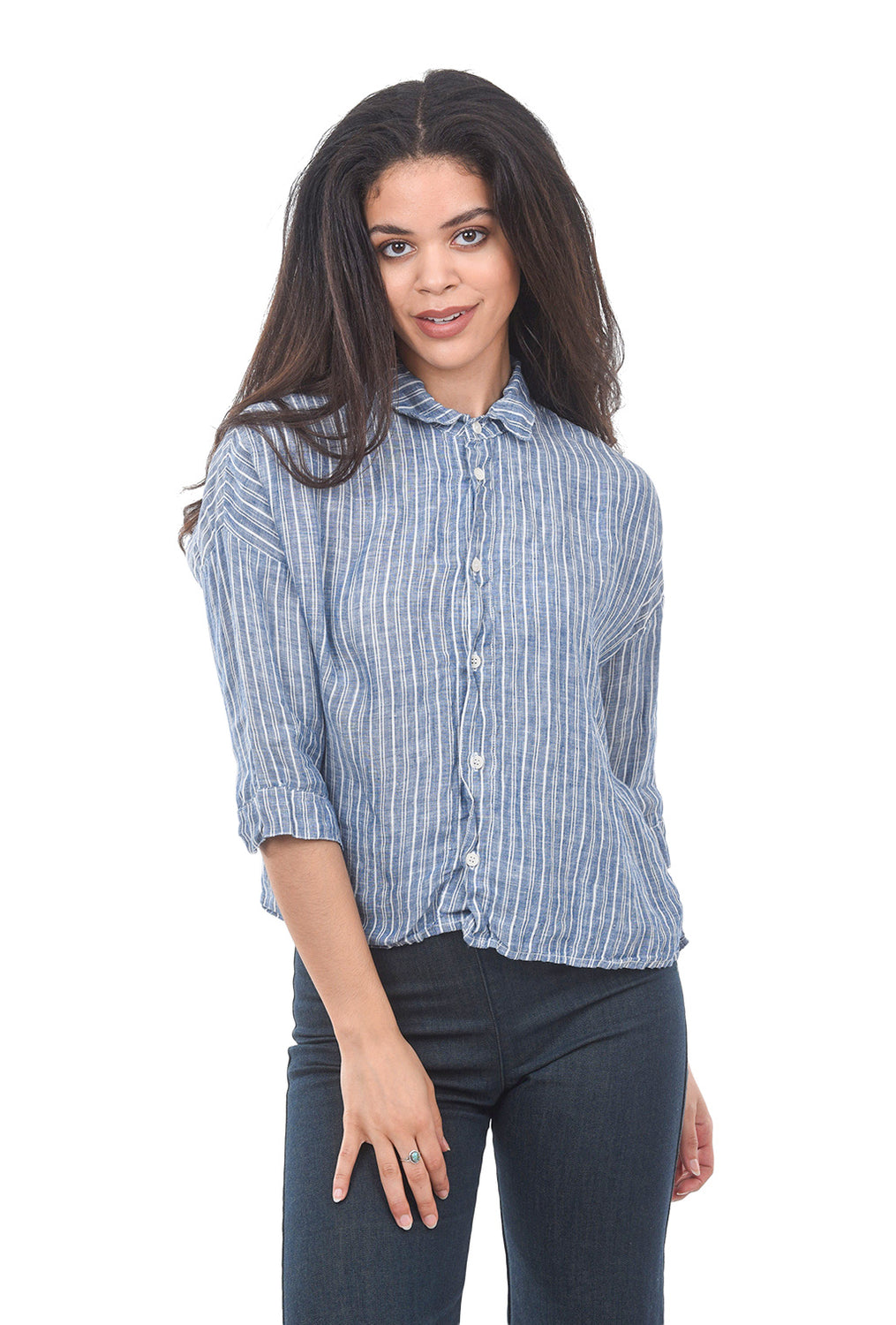 CP Shades Stripey Rooney Shirt, Blue