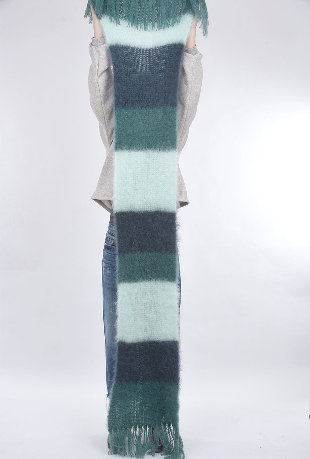 Babymoh! Striped Snuggle Scarf, Seaweed/Mint