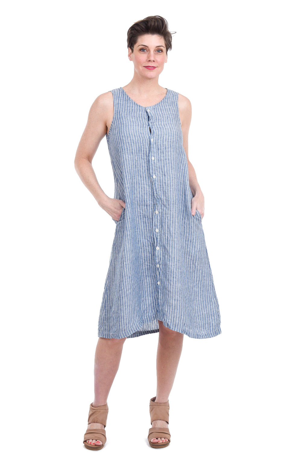 CP Shades Darcy Stripey Dress, Blue