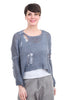 Umit Unal Drop-Stitch GD Sweater, Moody Blue