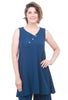 Cottonways Hailey Cotton Gauze Tunic, Indigo