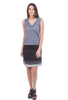 Sardine Clothing Company Shorter Recycled Tee Skirt, Black/Charcoal
