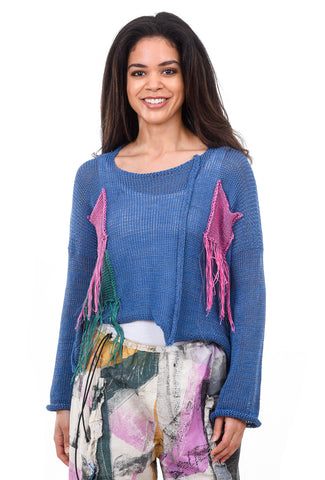 Skif International Demi Fringe Sweater, Cobalt One Size Cobalt