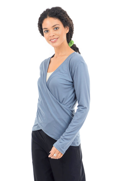 Yana K Saint Top, Titanium Blue One Size Blue