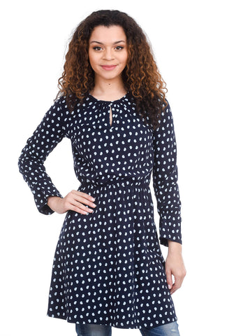 People Tree Angela Paisley Dress, Navy