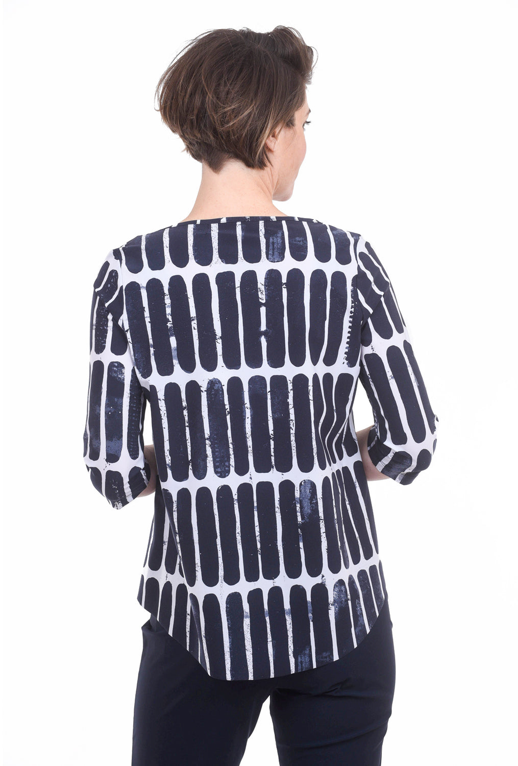 Porto Tavern Print Top, Deep Blue Pod