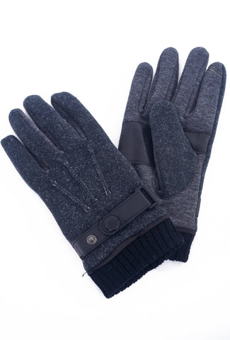 Santacana Madrid Men's Tech Touch Gloves, Gray