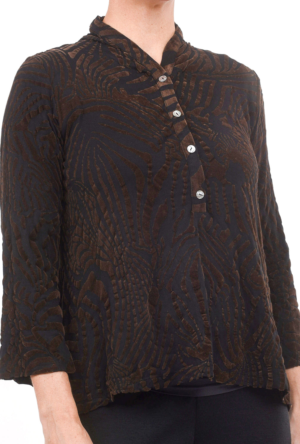 Bitte Kai Rand Zebra Flocked Blouse, Coffee