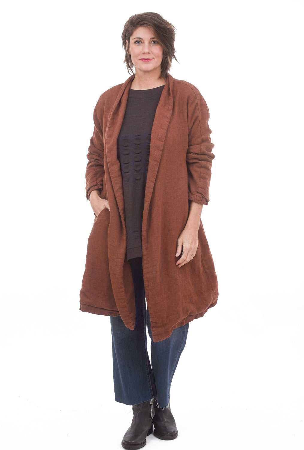 CP Shades Marian Wool Topcoat, Pluot