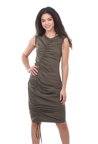 Veronique Miljkovitch Sophie Soft Dress, Army Khaki