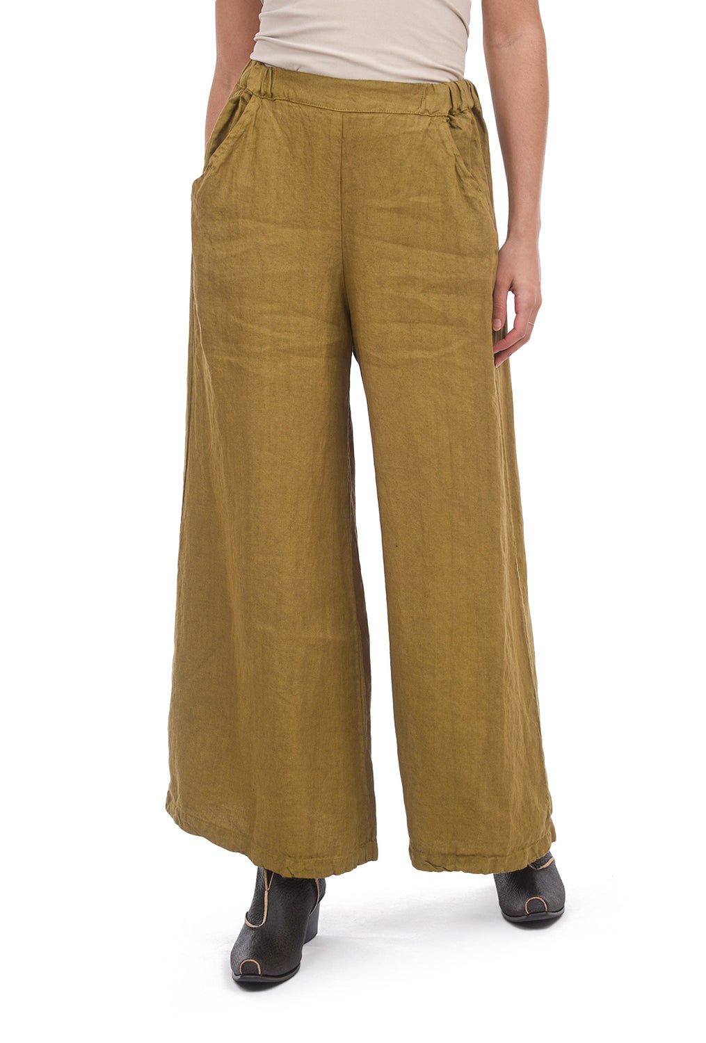 CP Shades Linen Wendy Pants, Ochre Alloy