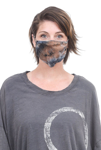 Coin1804 Cotton Jersey Face Mask, Taupe Tie-Dye