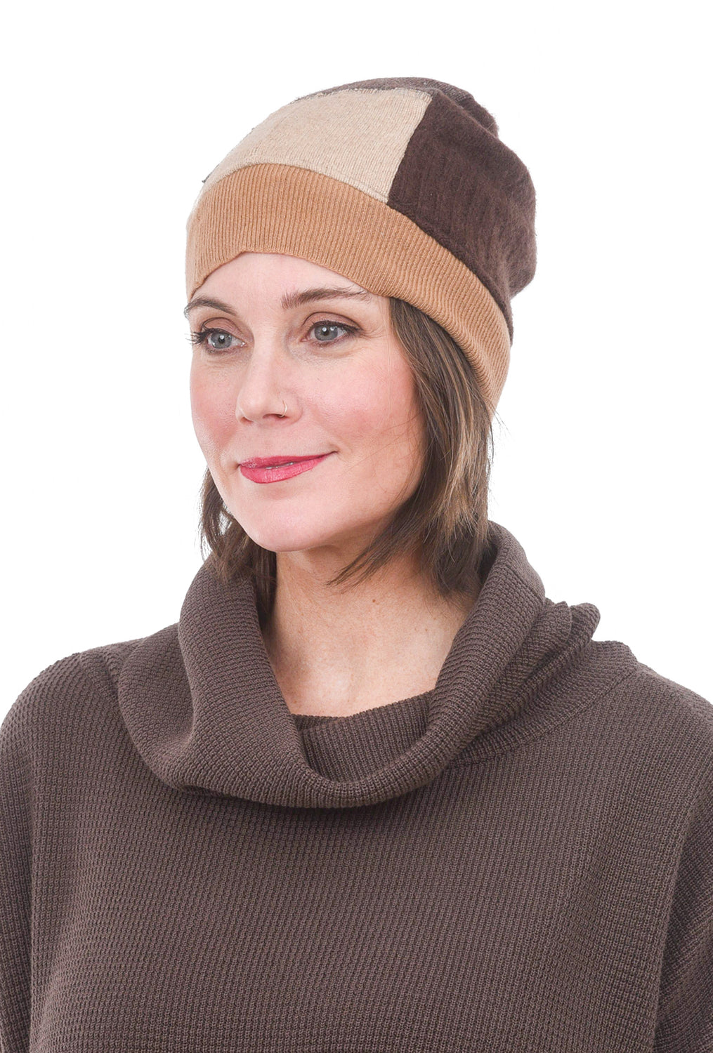 Sardine Clothing Company Recycled Cashmere Hat, Browns One Size Brown