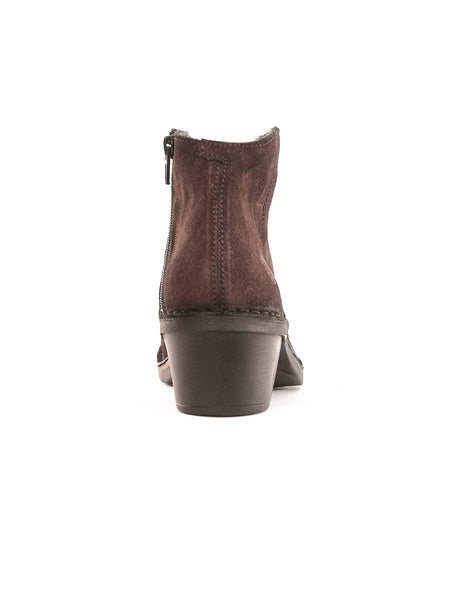 Fly London Leather Dari Ankle Boot, Brown-Purple