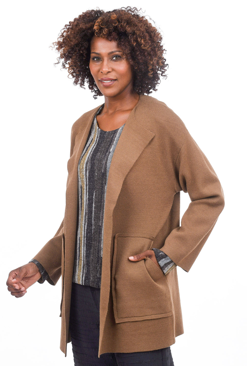 Kerisma Knits Albertine Jacket, Safari Brown