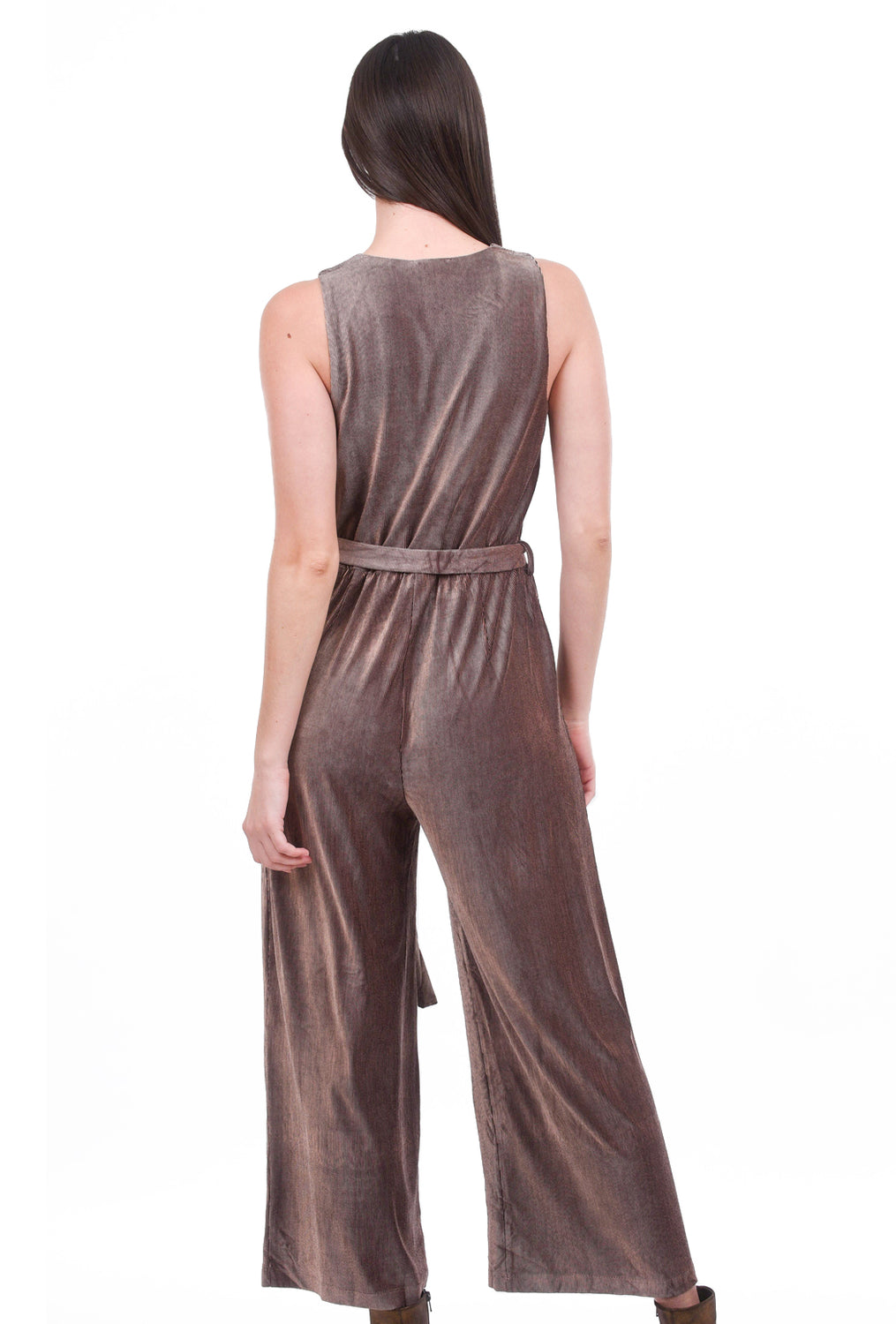 Mystree Velvety Jumpsuit, Rose