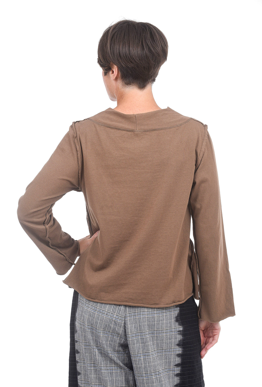Cynthia Ashby Solid Sadie Top, Chocolate